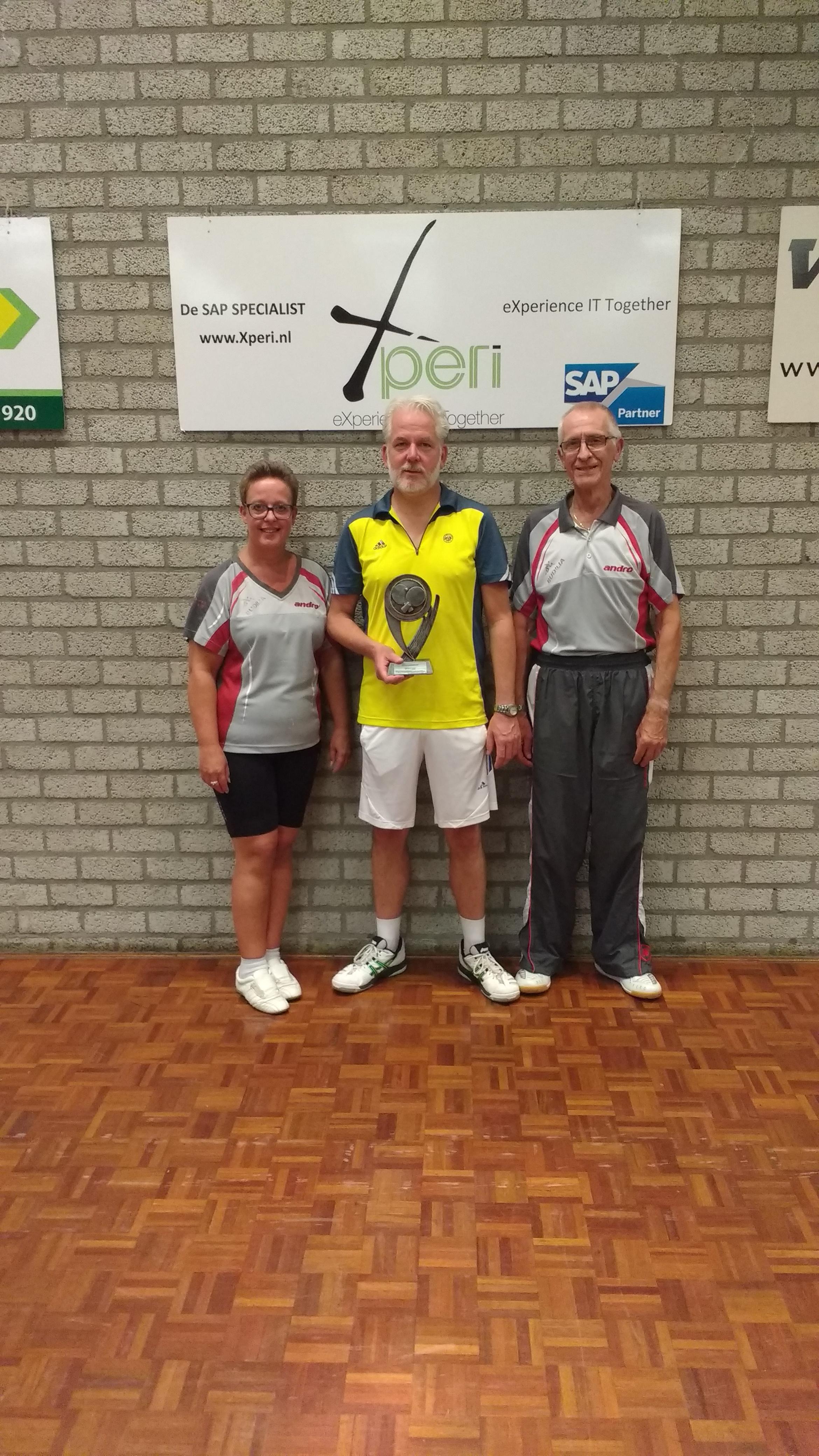 Alex Looymans wint voor derde keer de recreanten competitie.