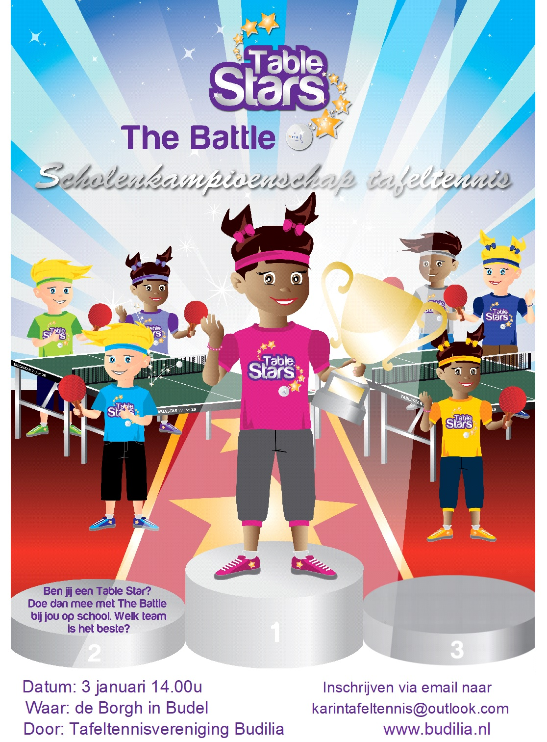 Scholierentoernooi Table Stars the Battle 3 januari 2020