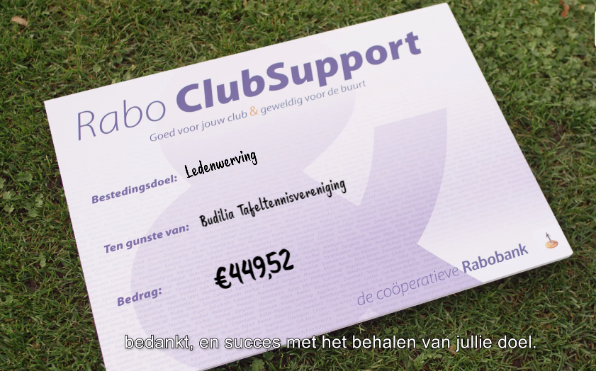 Uitslag Rabo Clubsupport
