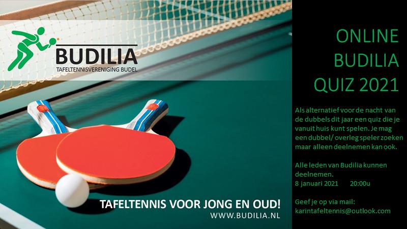 8 januari online Budilia quiz
